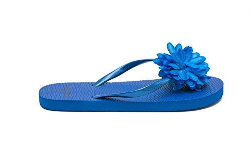 AIREE FAIREE Tongs Femme Chaussures de Plage Sandales Design Fleur Pack de mixes à x 3