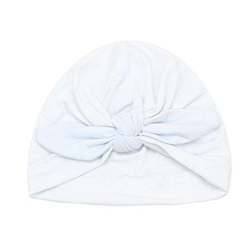 De feuilles Neugeborenes Baby Mütze Kleinkind Warm Weich Unisex Baby Jungen Mädchen Kopfdeckung Süße Schleife Jersey Slouch Hut Stirnband