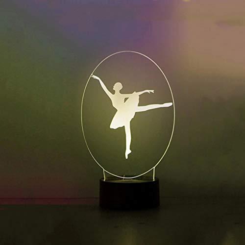 Kreative Usb 3D Led Ballerina Modellierung Leuchte Schreibtischlampe Mädchen Nacht Schlaf Nacht Lichter Neuheit Ballett Traum Geschenke