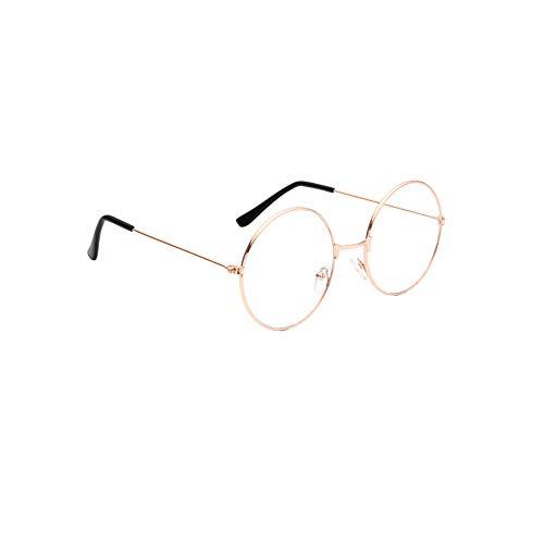 Stilvolle klare Linse Gläser Samll Kreis-rundes Feld blaues Licht Blocking für Männer & Frauen