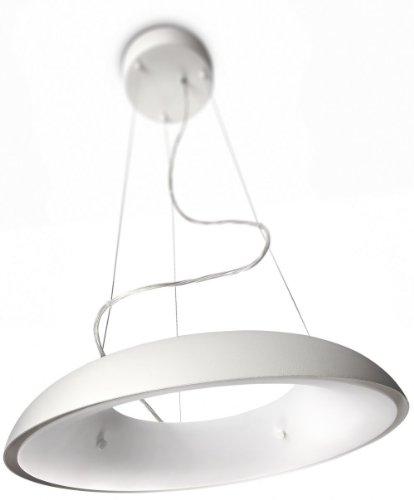 Philips Amaze Lampadario Moderno, Design Camera da Letto, Cucina, Salotto, con Cerchio in Metallo, Bianco, 1 Lampadina da 60 W Inclusa