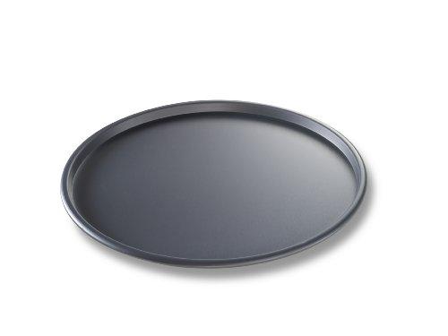 USA Pan Bakeware aluminisierten Stahl 30,5x 5,1cm dünn Kruste Hard eloxiert Pizza Pan, hergestellt in den USA, stahl, schwarz, 12-Inch