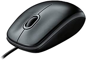 Logitech B100 Wired USB Mouse, 3-Buttons, Optical Tracking, Ambidextrous PC / Mac / Laptop - Black