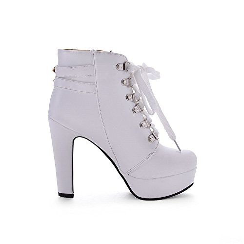 8482aeaf47959e Balamasa Bottes Blanches Pour Femmes Chelsea - boomparty.fr