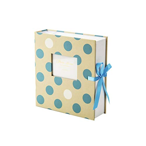 HongTeng Fotoalbum 5 Zoll 6 Zoll 7 Zoll Interstitial Ribbon Fenster for Familienreisen (Color : Polka dot Green) -