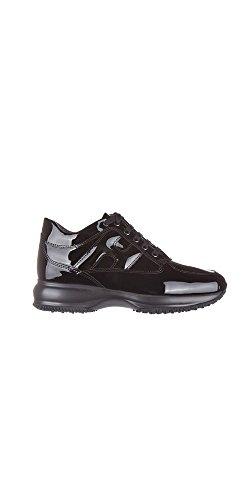 Hogan Sneaker Interactive in Vernice HXW00N00010OW0B999 Nero Donna 40