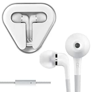 White In Ear Earphones With Remote & Mic For Apple iPod iPhone 3GS 4S iPad 2 3