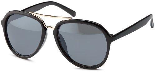 Retro Sonnenbrille im 70er Style mit filigranem goldenen Metallsteg