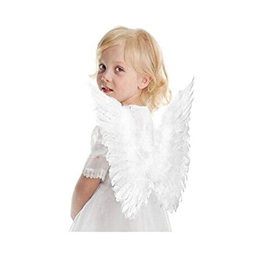 ICYANG Weiß Engel Flügel Feen Feder Halloween Karneval Party Kostüm Cosplay ()