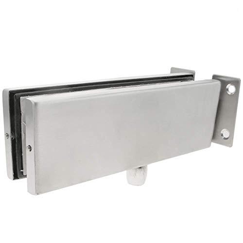 31iFRduD5kL - PrimeMatik - Pernio y bisagra Fija Superior de Aluminio para Puerta de Cristal para cierrapuertas de Suelo