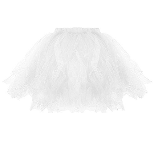Ulanda Kurz Retro Petticoat Rock Ballett Blase 50er Tutu Unterrock Ballettrock Faltenrock, Modern...