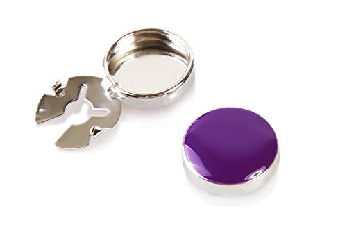 Violette Knopfclips - Die Alternative für Manschettenknöpfe für gewöhnliche Hemden