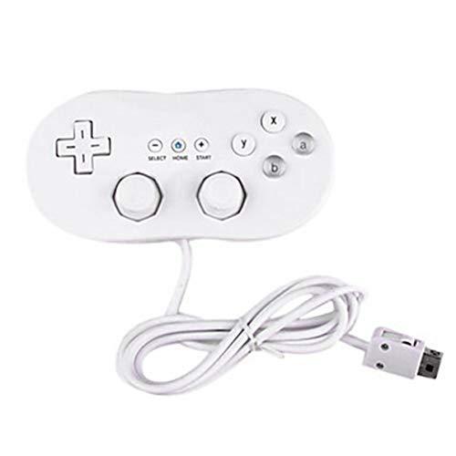 WEIWEITOE Wired Classic Controller Host-Gaming-Joystick Gamepad-Controller für Wii 1 Remote Console-Videospielzubehör, weiß,