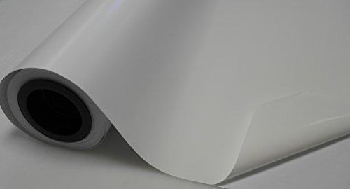 Könighaus (5,26/m2) Weiß Matt Autofolie 700 x 152 cm mit Luftkanälen + Gratis Rakel inkl. Anleitung