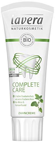 Lavera Zahncreme Complete Care ∙ Bio-Minze & Natriumfluorid ∙ Vegan ✔ Bio Pflanzenwirkstoffe ✔ Naturkosmetik ✔ Zahnpflege ∙ 75 Ml ∙ 1er Pack