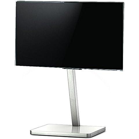 SONOROUS PL 2700 BCO-Diametro dello zoccolo di TV. Alto 92 cms. Base in vetro con telaio in alluminio, colore: