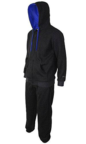 Location - Herren Designer Kapuzen Sweatshirt Kapuzenpulli Langarm Suit Männer Trainingsanzug Sport Komplettes Läufeset Fleece Jumper Sportbekleidung Heidekraut Grau / Dunkelblau