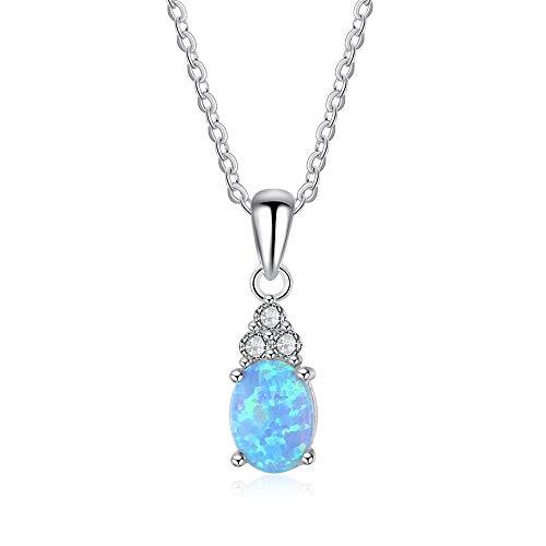 Lxyfms collana in argento con pendente goccia goccia di diamanti europei e americani 19 * 6mm collana
