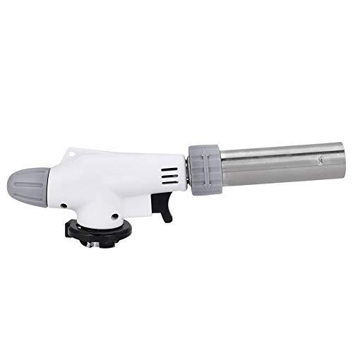 VGEBY Pistolet à Flamme BBQ - Torche de Cuisine - Torche de Pistolet de Butane en Acier Inoxydable pour Camping en Plein air Pique-Nique BBQ