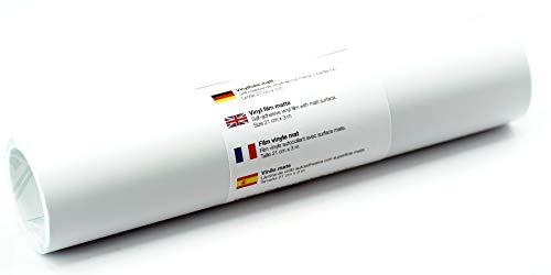 Selbstklebende Wandtattoo-/ Plotterfolie Vinylfolie matt 21 cm x 3 m, Farbe:Weiß