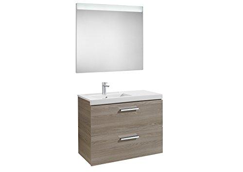 Roca A855937321 - Pack mueble base con dos cajones, lavabo izquierda y espejo led