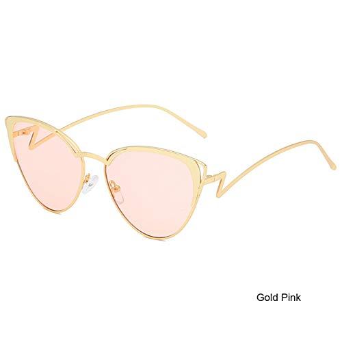 WZYMNTYJ Sonnenbrille Frauen Männer Cat Eye Sonnenbrillen Brillen Schatten Brillen Metallrahmen Neue Material HD Ansichten Mode Retro