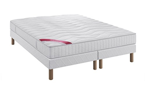 Relaxima Ensemble Equateur Matelas 100% Latex Dunlopillo, Blanc, 160x200