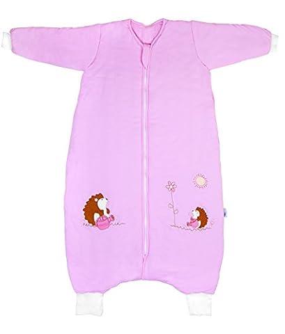 Slumbersac Bamboo Toddler Winter Sleeping Bag with Feet approx. 3.5 Tog - Pink Hedgehog- 24-36 months