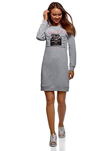 Oodji Ultra Mujer Vestido Estampado Estilo Deportivo