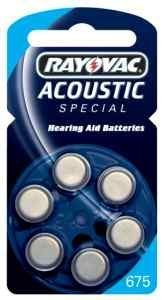 Rayovac Acoustic Special - Batterie allo zinco per apparecchi acustici, modello 675, Air P675 PR44