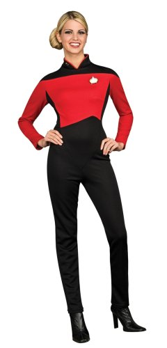 Deluxe Commander Uniform 'Star Trek - The Next Generation' für Damen Gr. XS-M, (Star Uniform Kostüm Enterprise Trek)
