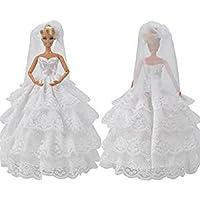 No: 2 Barbie Sindy bambola tradizionale, 2 pezzi, colore: bianco,