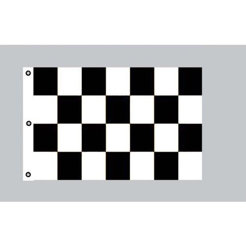 Riesen-Flagge: Karo schwarz-weiß 150cm x 250cm Zielflagge -
