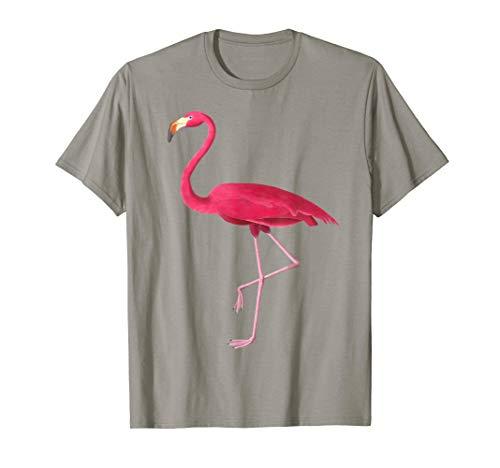 Pink Flamingo Vintage Illustration T-Shirt -