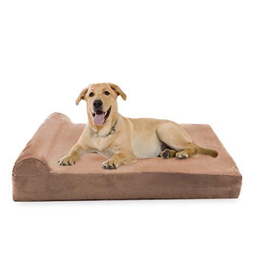 Big Dog Beds Hundebett, aus den USA hergestellt, 20,3 cm dick, superplüschiges orthopädisches Bett für große Hunde, mit therapeutischem Kissen, Extra Large 52