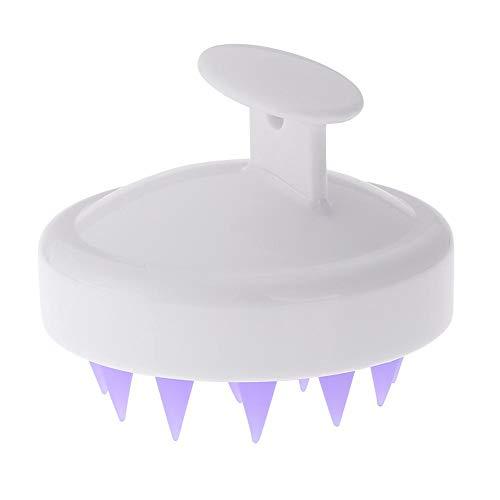 Taoytou 1 stück Haarwaschbürste Silikon Kopf Massagegerät Kamm für Haustier Werkzeuge (Weiß)