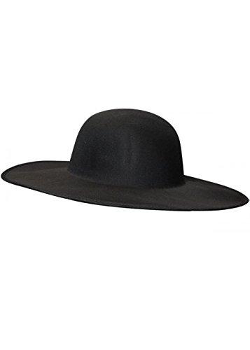 Sombrero ala ancha negro adulto de la Doctor peste