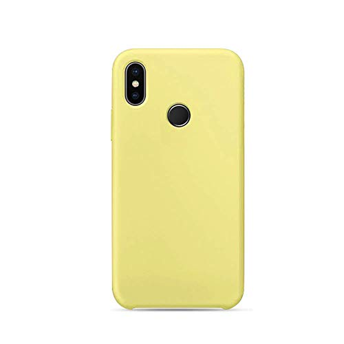 Funda for Xiaomi Mi 8 Carcasa Silicona Colores del Caramelo Protector TPU Ultra-Delgado Anti-Arañazos Caso Caja para Mi 8 SE (Amarillo, Mi 8)