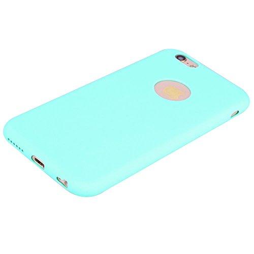 """Coque iPhone 6 Plus / 6S Plus (5.5""""), Solaxi Coque TPU Slim Bumper Etui pour Apple iPhone 6 Plus / 6S Plus (5.5 pouces) Souple Housse de Protection Flexible Soft Case Cas Couverture Anti Choc Mince Lé Bleu clair"""