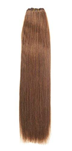 Euro Silky Weave 100g Echthaar Extensions | 50,8cm | hellbraun (6) - Echthaar Nähen Extensions 100