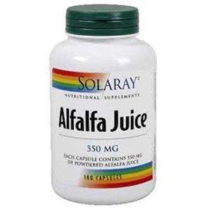Solaray 550 mg Alfalfa Juice Capsule - Pack of 180 by Solaray