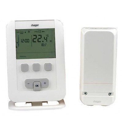 Hager sas - Thermostat ambiance programmable - HAGER radio EK560 à piles LR3 - : EK560