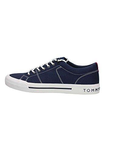 Tommy Hilfiger H2285arlow 2d, Sneaker Bas du Cou Homme Bleu