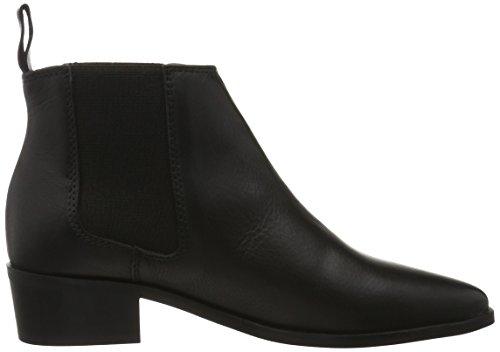 Shoe Biz Damen Shoort Boot Kurzschaft Stiefel Schwarz (Velvet Black)