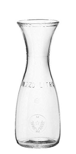 8 x Karaffe, Wasserkaraffe, Glas, transparent, 0.5 l, Ø 8.4 cm, Höhe: 23.5 cm