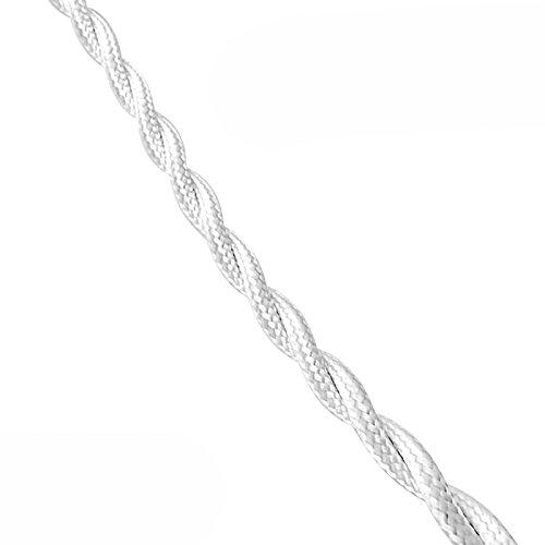 Parallel Textil geflochten 2x 1,5mm weiß