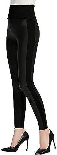 Everbellus Damen SchwarzKunstleder Leggings Mädchen Hoch Taillierte Sexy Lederhosen