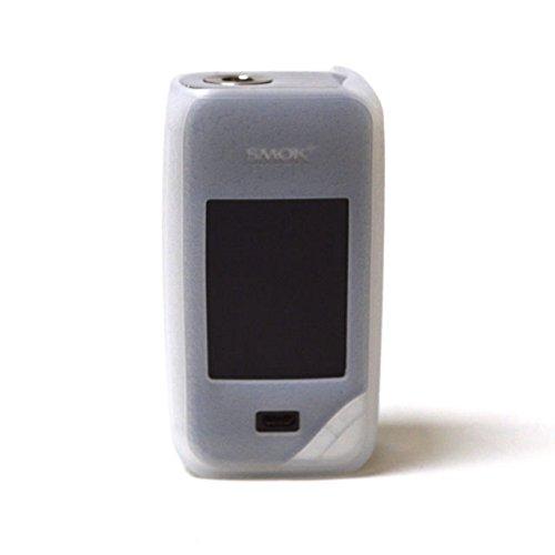 Preisvergleich Produktbild Smok X Priv Hülle, Silikon Schutzhülle Sleeve Cover Wrap Haut für 225w SMOK X priv X-priv Box Mod (Transluzentes Weiß)