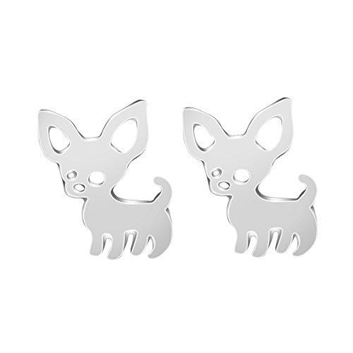 Chihuahua Ohrringe Schmuck / Tier Geschenk für Frau Mädchen Kind Tier-ohrringe