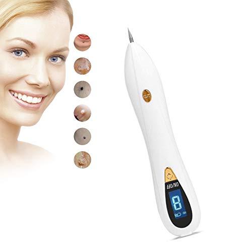 MoleRemoval, Skin Tag Remover Kit Entfernen Tattoo/Mole/Wart/Freckles Skin Beauty Instrument & Plasma Tool Pen Mit Nadel 9-Gang Verstellbare USB-Aufladung Austauschbare Nadel (Unisex)